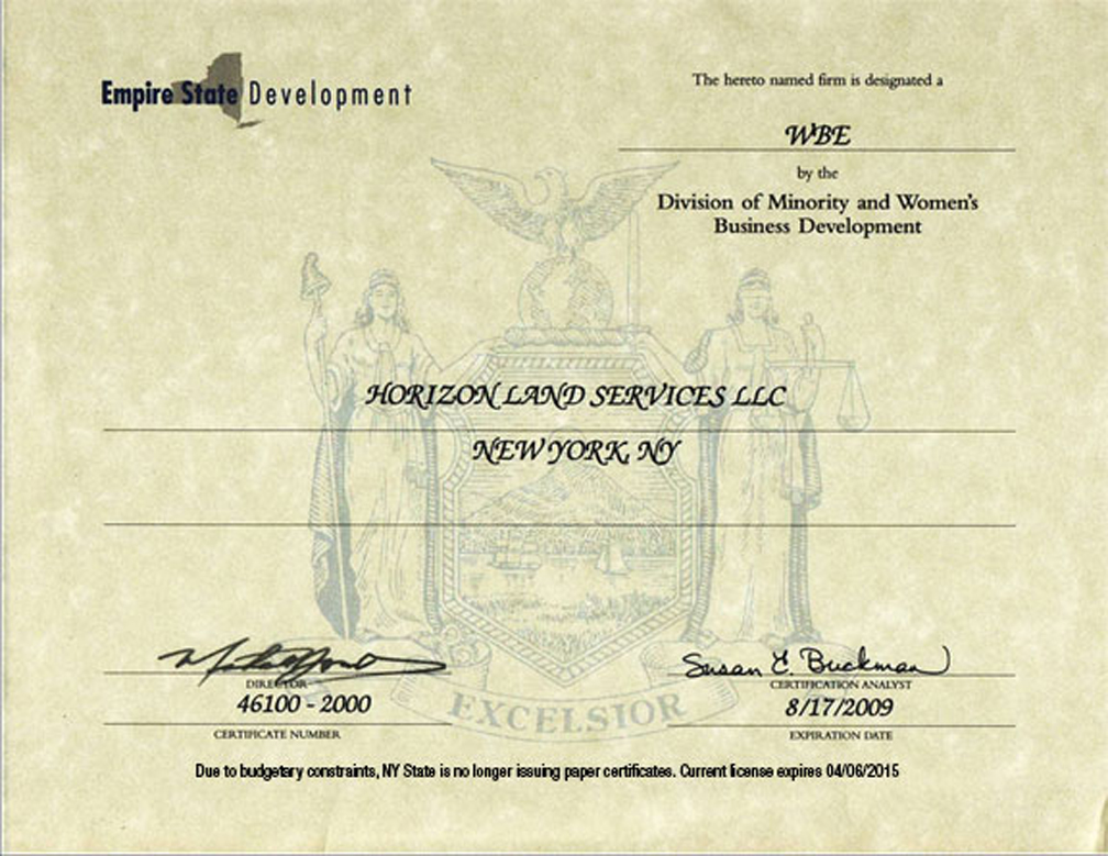 Mwob And Mwbe Certifications Government Agencies Horizon Land